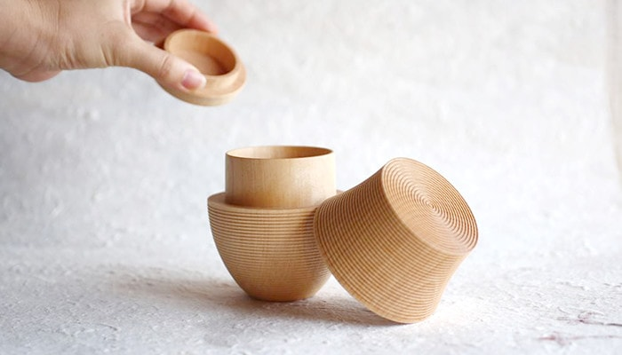 Wooden tea canister Karmi from Gato Mikio Store