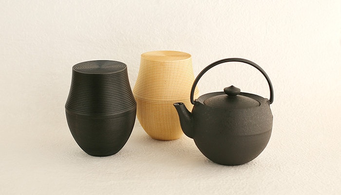 Japan Design Store original set, Teapot and two tea canisters