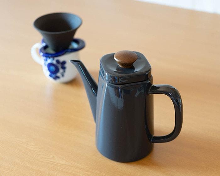 野田琺瑯のコーヒーケトルアンビ