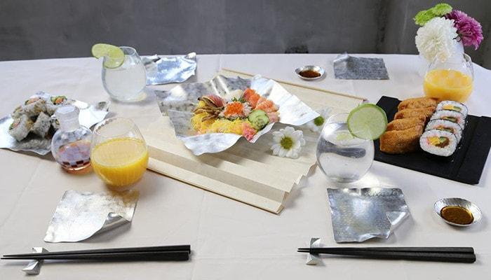 すずがみやSUZURIを使用したお寿司パーティーの様子