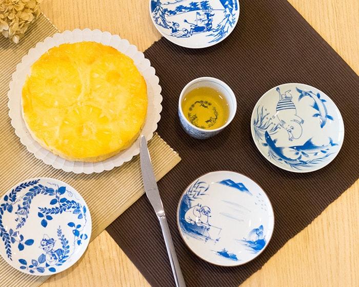 能作のすずこざらを醤油皿として使用した例