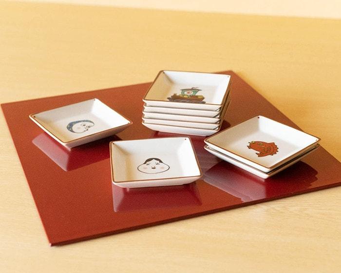 KIHARA KOMONの豆皿のセットと説明書と専用の化粧箱