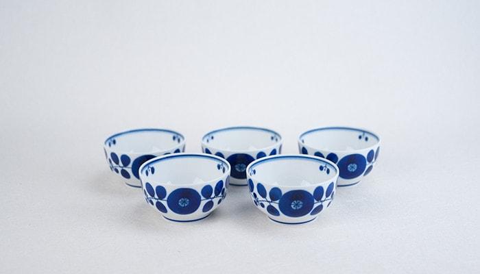 白山陶器のブルームシリーズのボウルSSサイズ5点セット