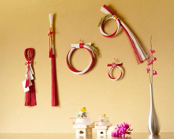 日本デザインストアのお正月飾りとガラスの鏡餅