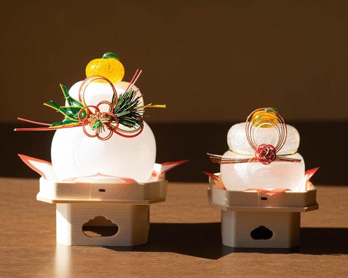 日本デザインストアオリジナルのガラスの鏡餅