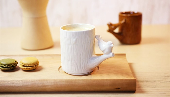 Parchment cup White bird