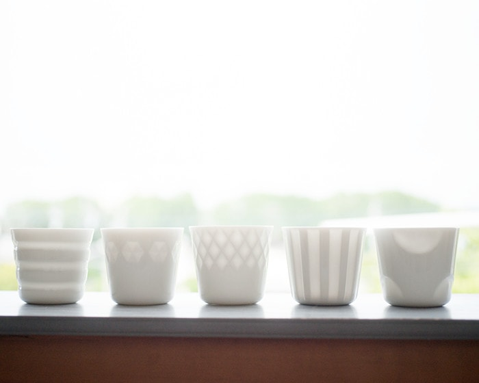5 different cups of HONOKA series from Oda Toki