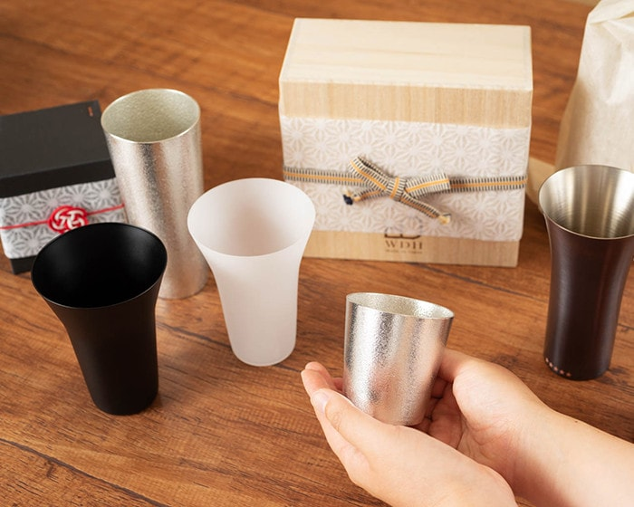 Various tumblers of Japan Design Store