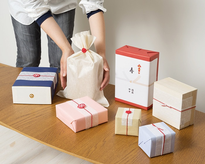 Various gift wrappings of Japan Design Store