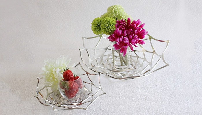 Flowers and fruits are decorated on KAGO from Nousaku