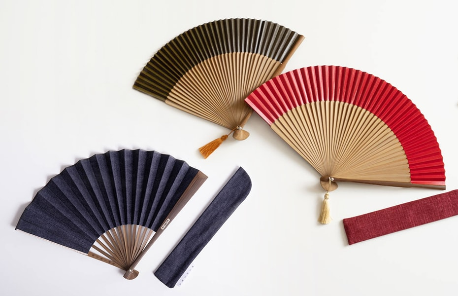 Japanese fans collection in Japan Design Store