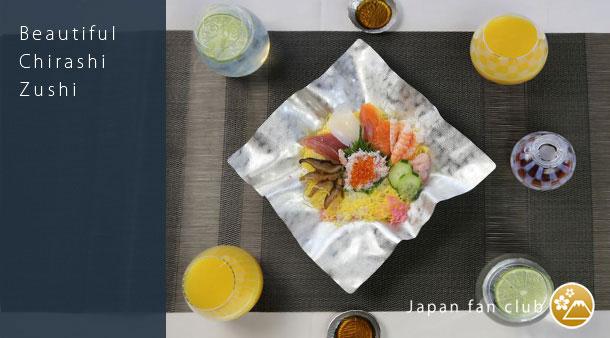 ちらし寿司とマッチするテーブルコーディネート