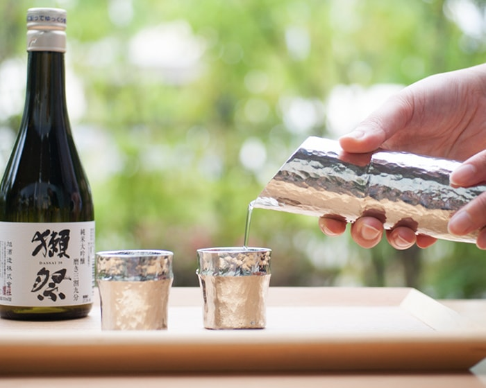 Sake time with Chirori, guinomi form Nousaku and Suzugami from syouryu