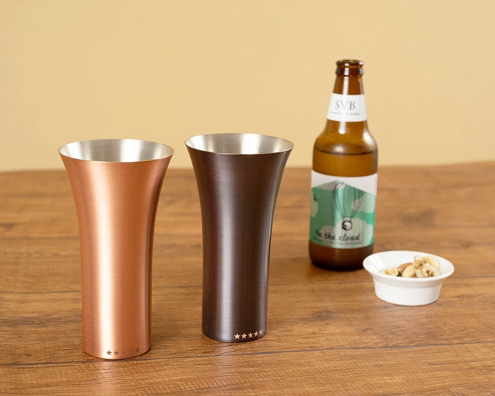Mat and Brown of copper tumbler from WDH