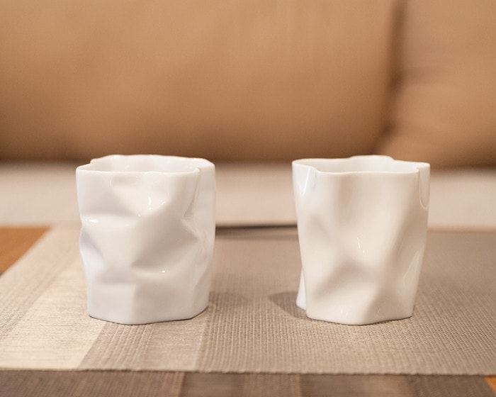 2 types of New crinkle tumblers from ceramic japan