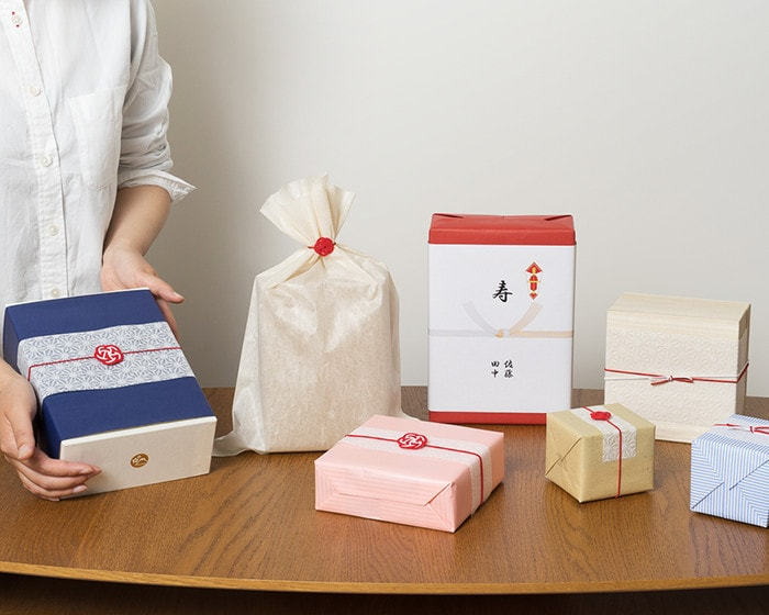 Image of Japanese modern gift wrapping of Japan Design Store
