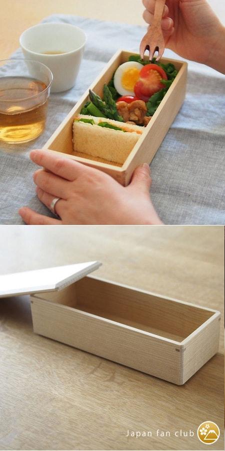 Wooden traditional bento box of Wajima Kirimoto