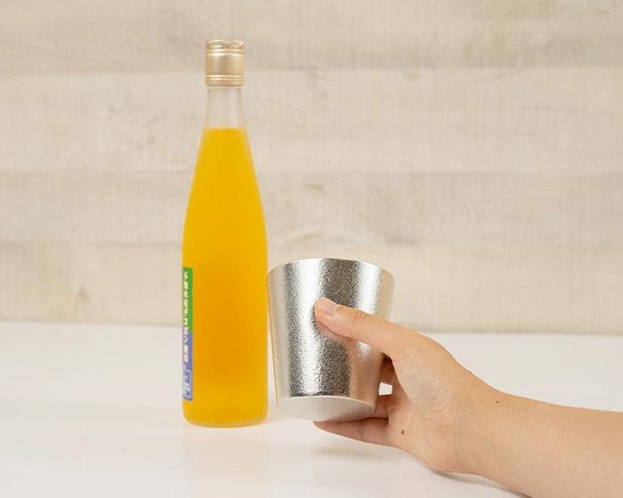 NAJIMI tumbler from Nousaku and orange juice