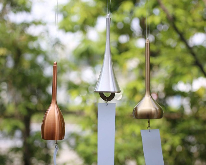 Slim, Horn, and Onion wind chimes from Nousaku