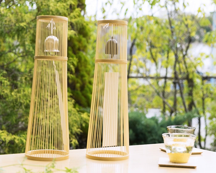 Beautiful bamboo stand of tabletop wind bell from WDH