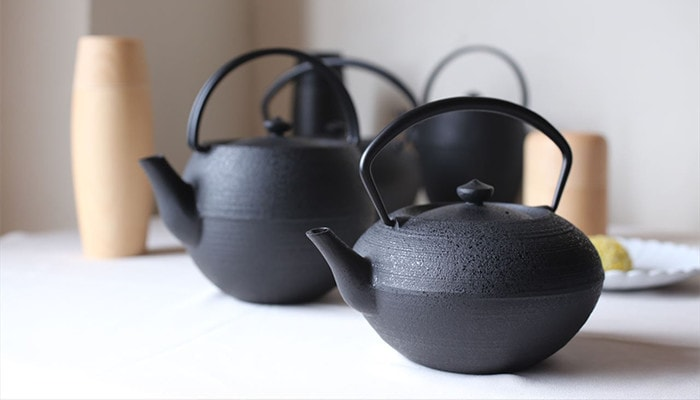 Japanese cast iron teapot (Kyusu) from Chushin Kobo