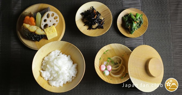 ichiju-sansai (one soup and three side dishes) Yamanaka lacquerware