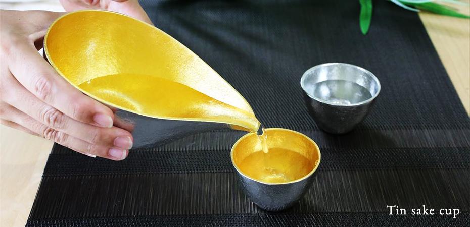 Tin sake tools of Nousaku make sake delicious