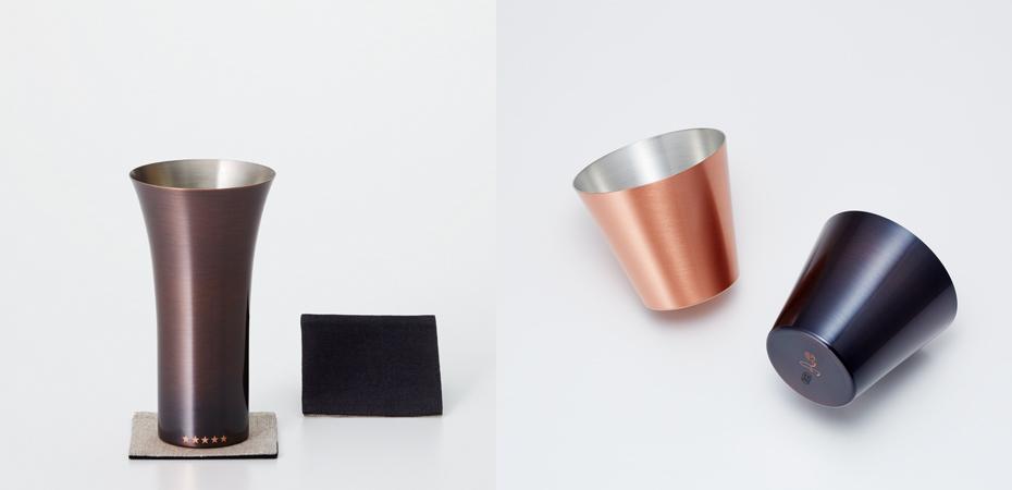WDHの純銅製タンブラー・カップ 新潟県燕市のビアグラス
