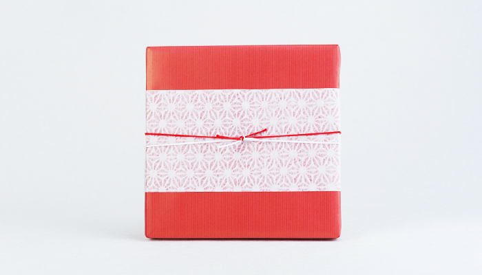 Wrapping image of wrapping paper Japanese-style