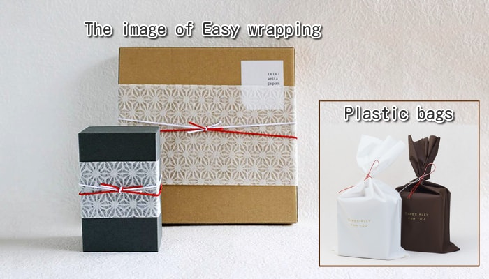 Wrapping image of easy wrapping Japanese-style/Image of easy wrapping for plastic bags