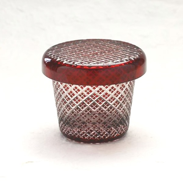 Futa Choko / Small glass with a lid / Niju Yarai  / Hirota Glass