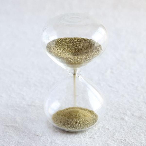 砂時計/スナ式トケイ 丸型 1分間 金色/廣田硝子