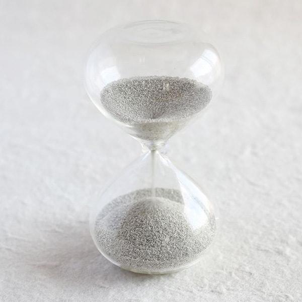 砂時計/スナ式トケイ 丸型 2分間 銀色/廣田硝子