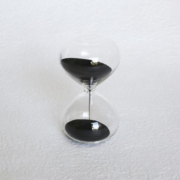 砂時計/スナ式トケイ 丸型 3分間 漆黒/廣田硝子