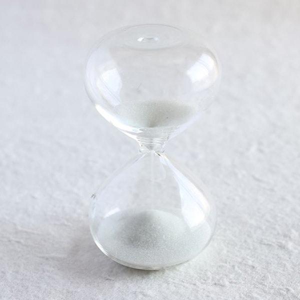 砂時計/スナ式トケイ 丸型 4分間 純白/廣田硝子