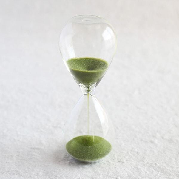 砂時計/スナ式トケイ スリム 3分間 抹茶色/廣田硝子
