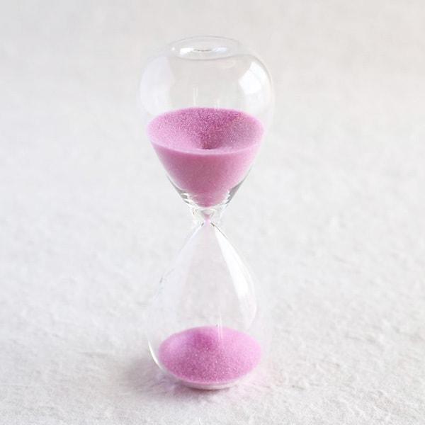 砂時計/スナ式トケイ スリム 5分間 桃色/廣田硝子