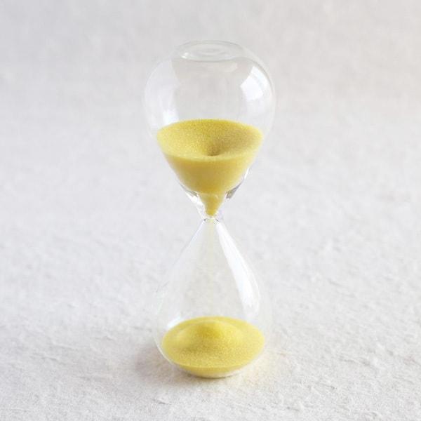 砂時計/スナ式トケイ スリム 5分間 黄色/廣田硝子