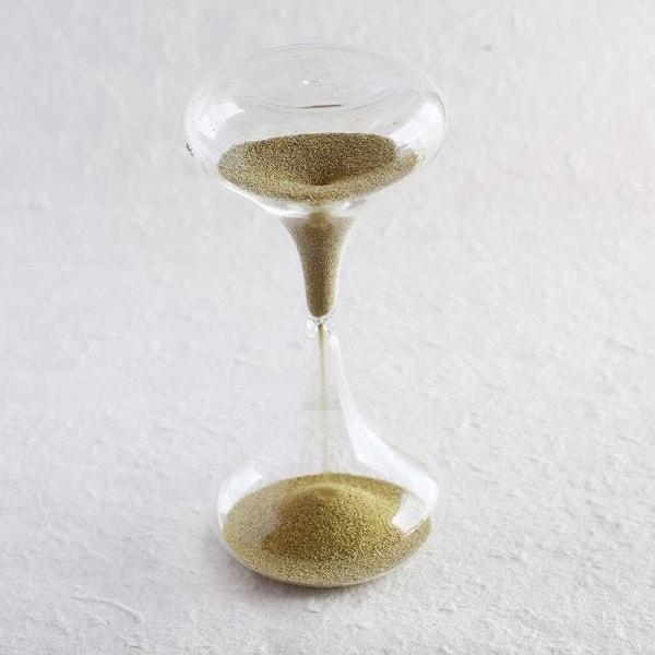 砂時計/スナ式トケイ ラッパ型M 3分間 金色/廣田硝子