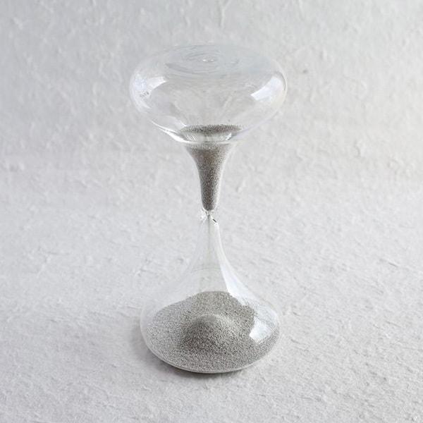 砂時計/スナ式トケイ ラッパ型M 3分間 銀色/廣田硝子