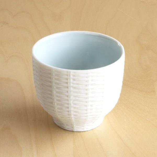カップ/Trace Face ラタン 空色 ホワイト/セメントプロデュースデザイン