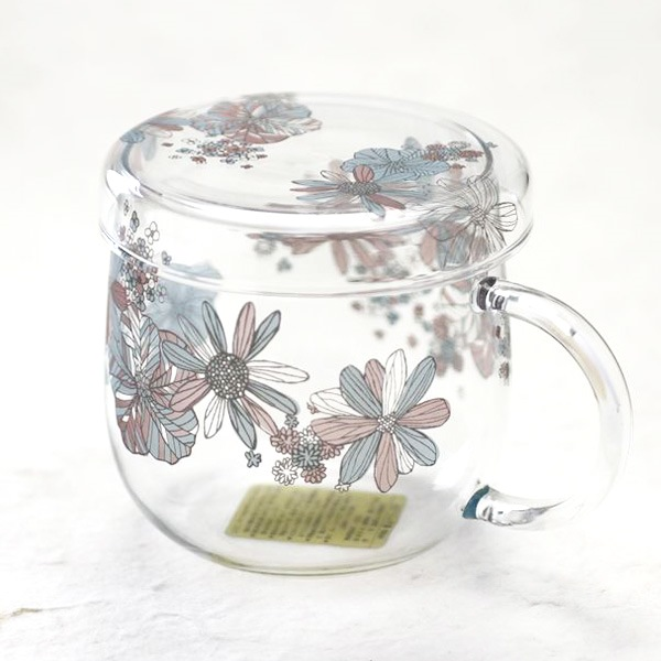 Tea Cup/ Flower Pattern/ Blue/ Tea Mate Series