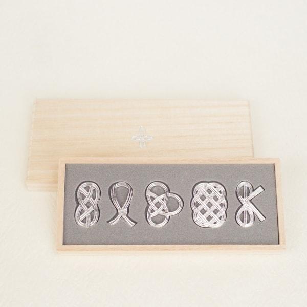 箔一 箸・箸置きセットペア しずく 桐箱入