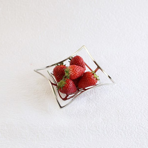 Tin tableware KAGO / Square / S / Nousaku