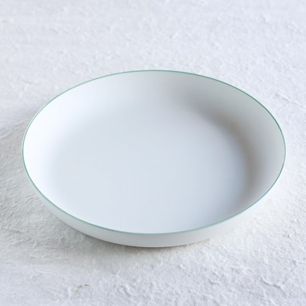 Deep Plate/φ228/ White& Light Green/ S&B Series/ 1616 arita japan