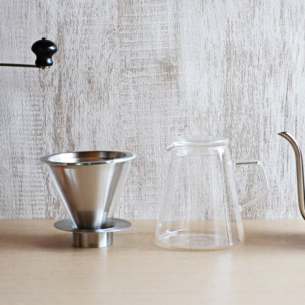 コーヒー道具/CARAT カラット コーヒードリッパー&ポット/KINTO