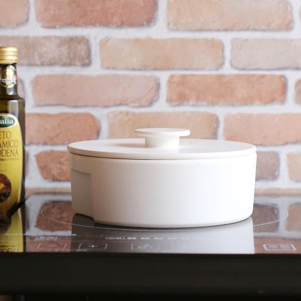 do-nabe / Donabe Pot / Induction friendly / White / S / ceramic japan