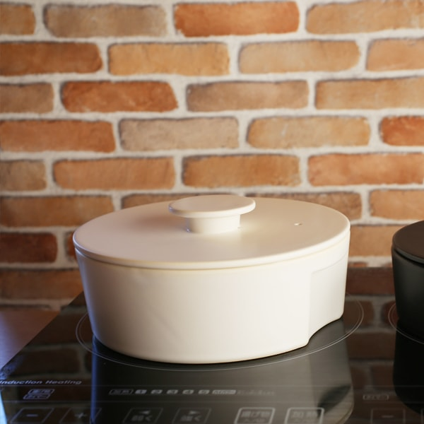 鍋/do-nabe(IH対応)L ホワイト/ceramic japan