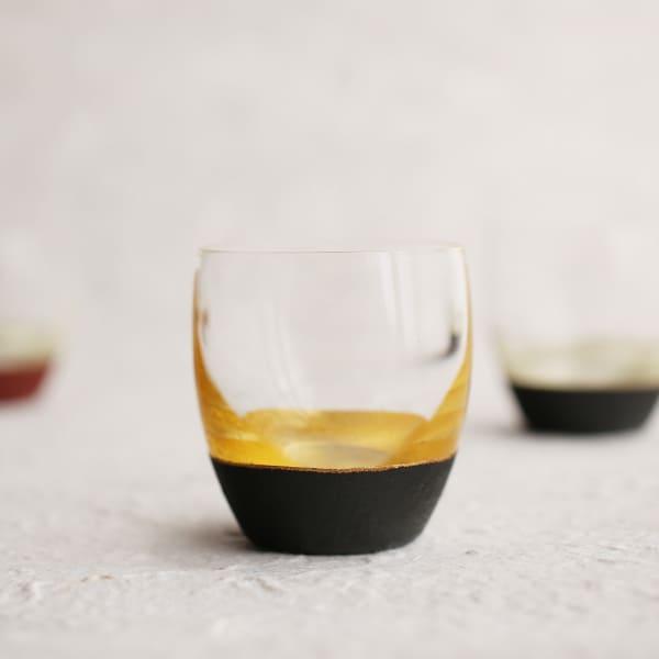 酒器/うるしの酒盃 丸型 金黒/鳥羽漆芸