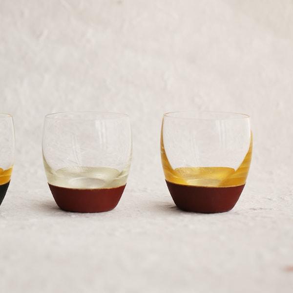 酒器/うるしの酒盃 丸型(銀赤、金赤ペアセット) 2個入り/鳥羽漆芸
